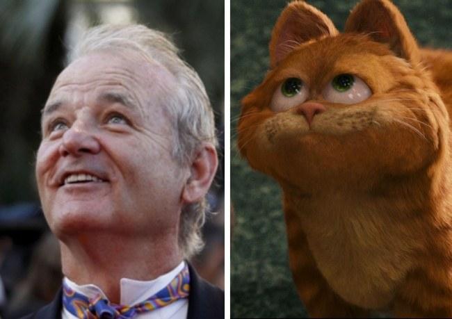 Билл Мюррей и Кот из «Гарфилда»