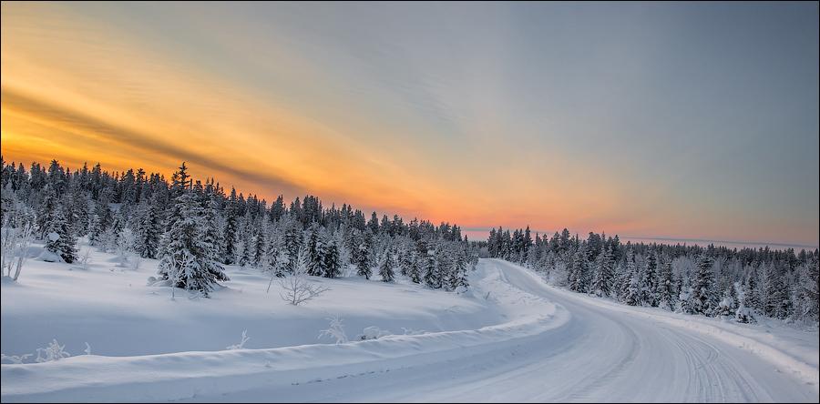 Дороги Лапландии. Финляндия, январь 2015