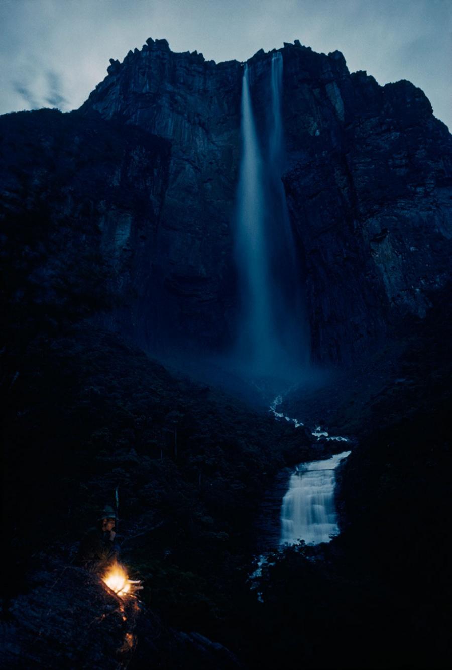 Водопад на горе Ауян-Тепуи, Венесуэла, март 1963