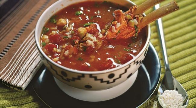 Марокканский рисовый суп харира