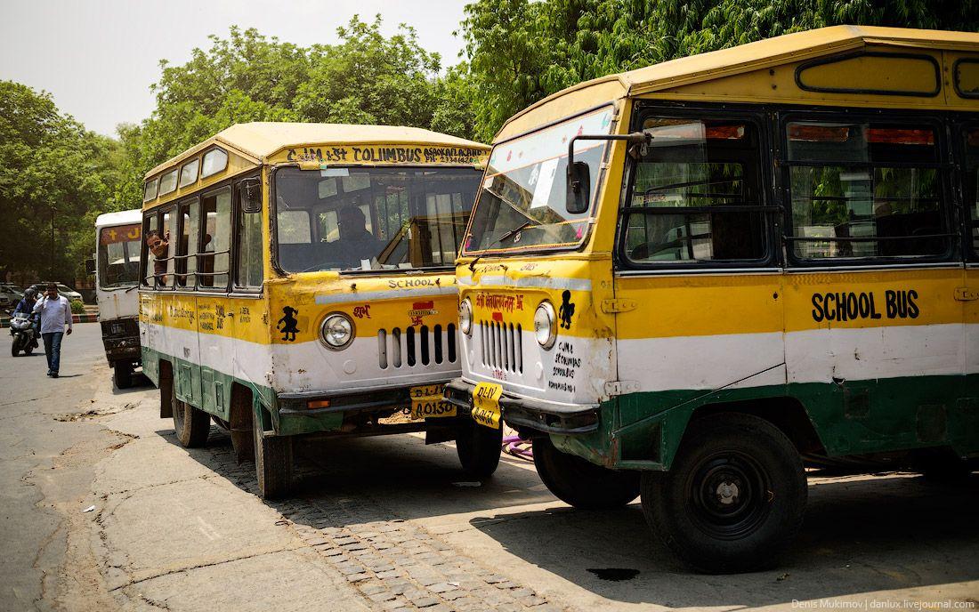 Еще школьные автобусы.
