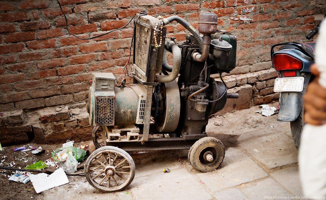 Двигатель автомобиля используется так же как генератор для дома.