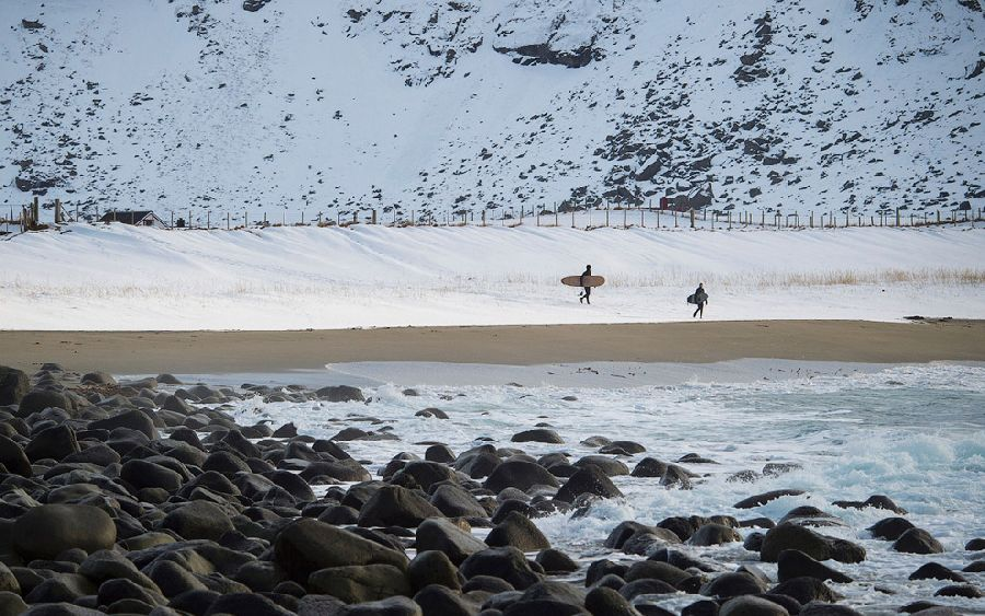 Считается, что залив Унстад-Бей, имеет один из самых красивых пейзажей в Скандинавии.