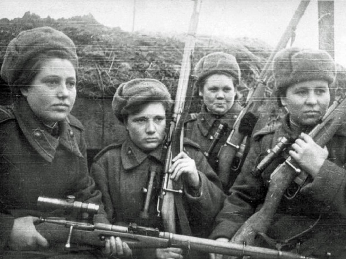 Клавдия Калугина, Снайпер, 17 лет