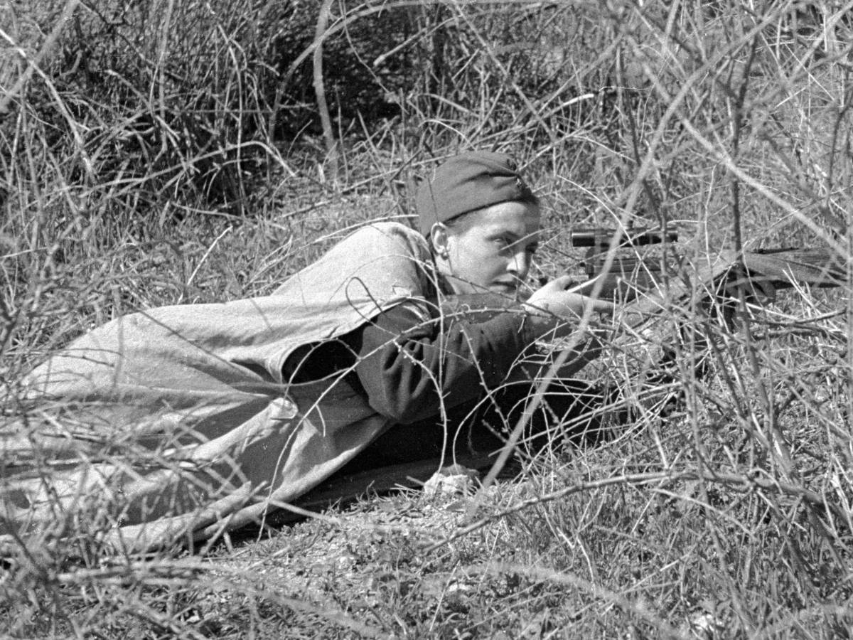 Советский Снайпер Людмила Павличенко, 6 Июня 1942 год