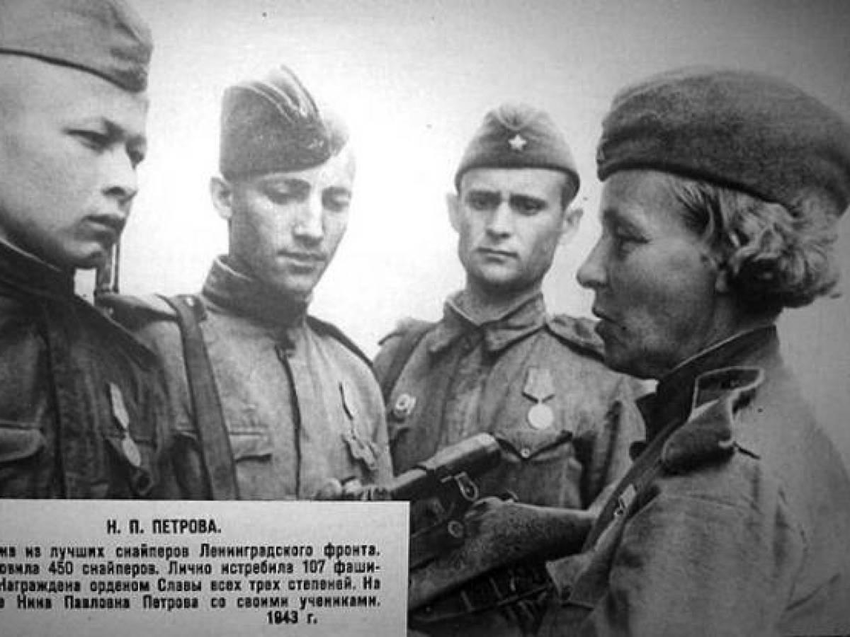 Нина Павловна Петрова, самый возрастной женщина-снайпер