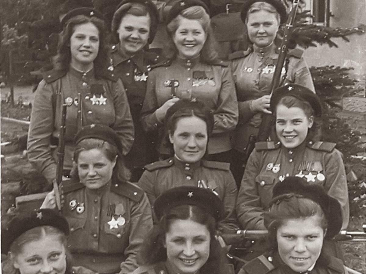 Женщины-снайперы из Третьей Ударной Армии