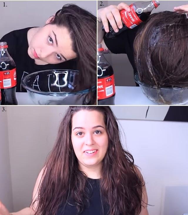 Волнистые волосы с помощью Кока-Колы