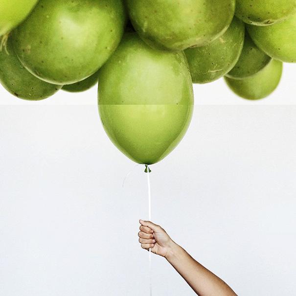 Виноград и шарики