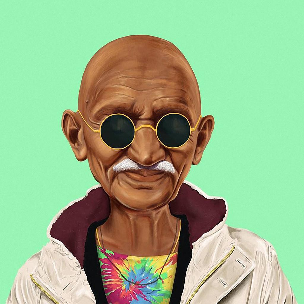 Махатма Ганди — известный политический деятель Индии