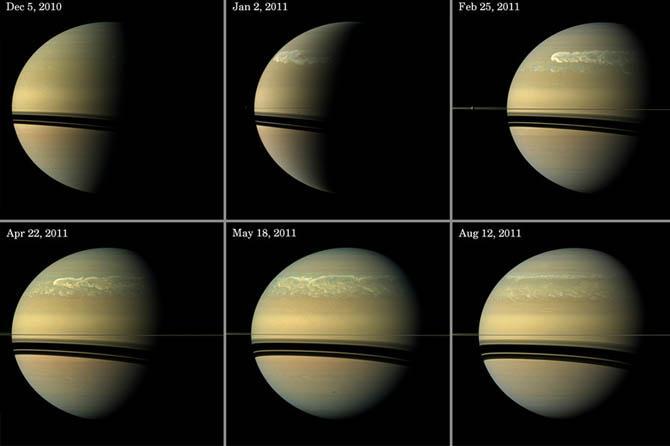 Сатурн виден с Земли невооруженным взглядом