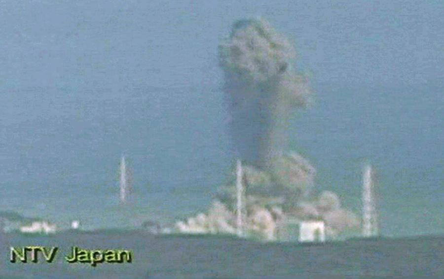 Взрыв 3 блока реактора в Фукусиме, Северная Япония, 14 марта 2011 года.