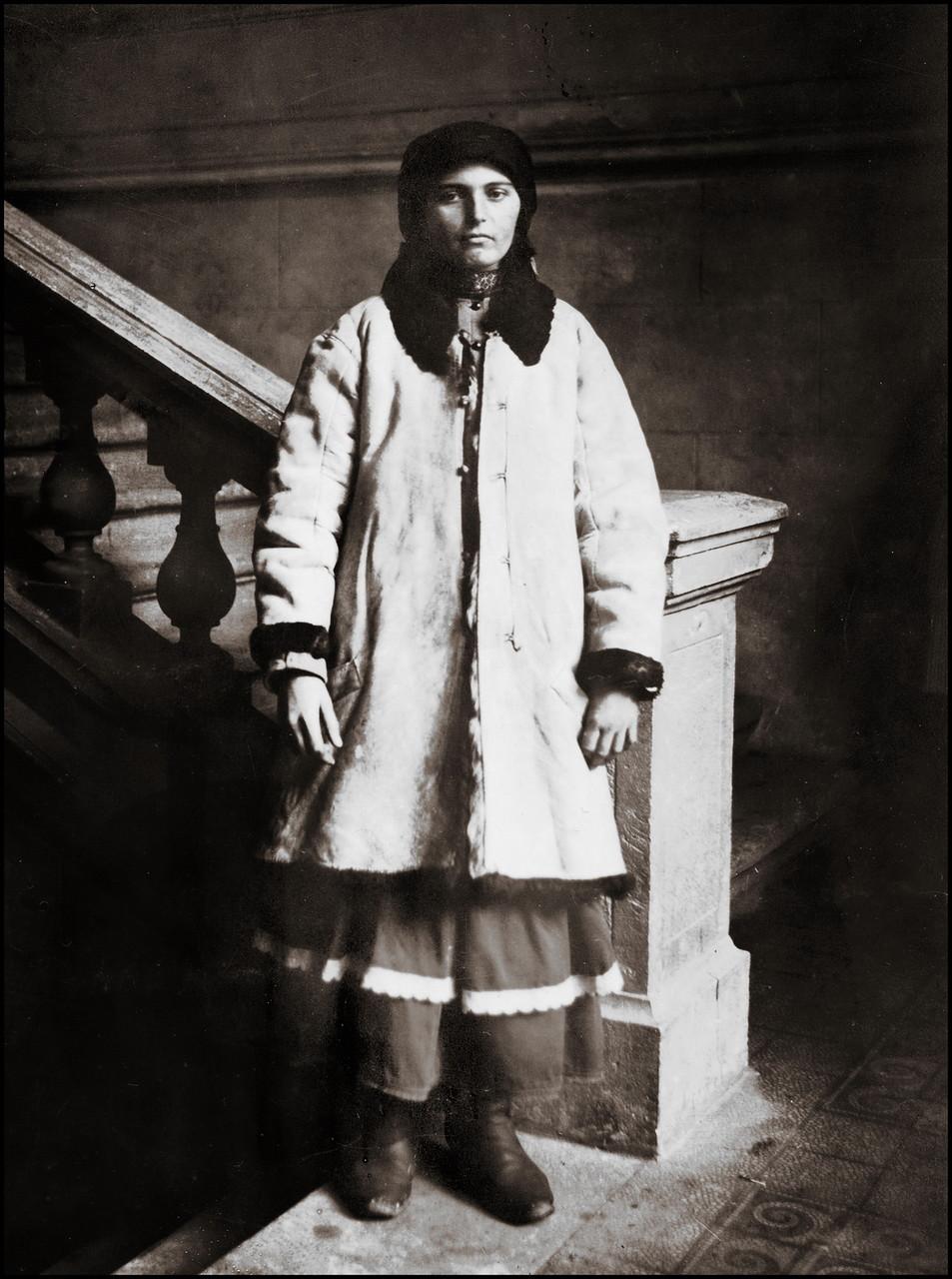Русинская женщина в шубе