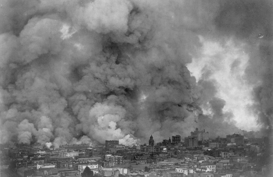 Сан-Франциско в огне, 18 апрель, 1906 года.