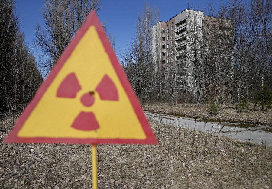 Вид на заброшенный город Припять возле Чернобыльской АЭС в Украине, 28 марта 2016 года.