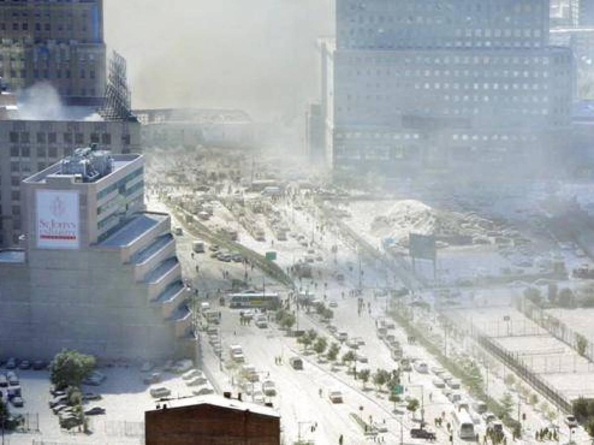 Нью-Йорк в Сентябре 2001 года, после теракта