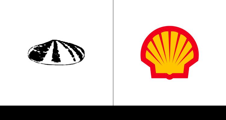 Первый логотип Shell был разработан в 1900 году. Далее компания переработала логотип, сделав его более узнаваемым.