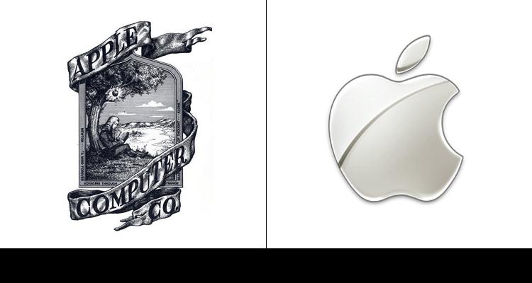 Логотип компании Apple впервые был разработан в 1976 году Рональдом Уэйном. На логотипе изображен Ньютон и яблоко.