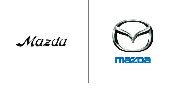 Лого концерна Mazda впервые появился в 1934 году. После этого появился привычный логотип бренда.
