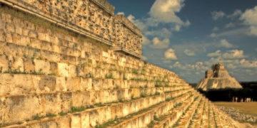AX3A3A Uxmal Maya Ruins Yucatan Mexico Pyramide Palace of the Governor. Image shot 2011. Exact date unknown.