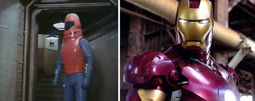 Железный человек в 1977 и 2008 годах