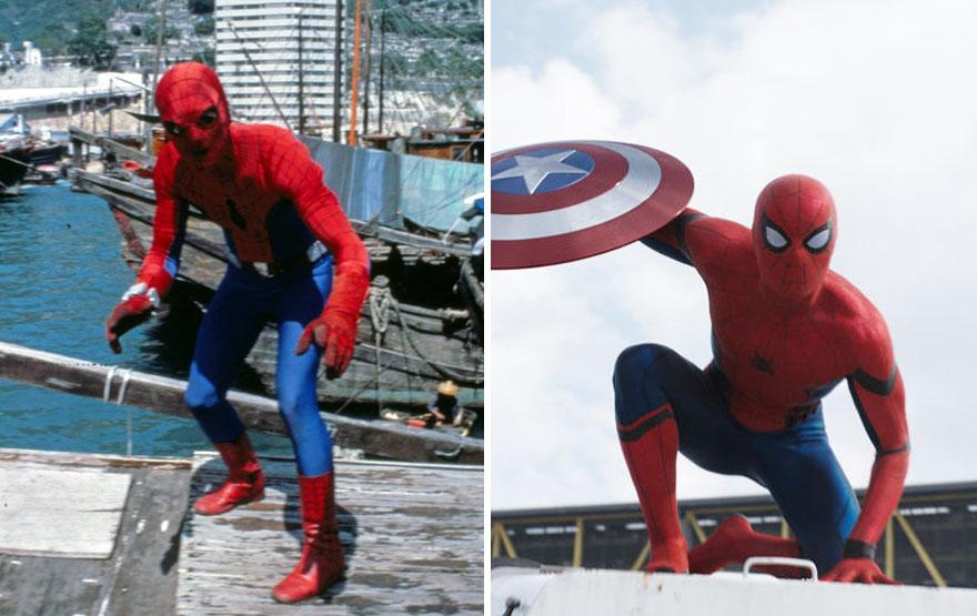 Человек-паук в 1977 и 2016 годах