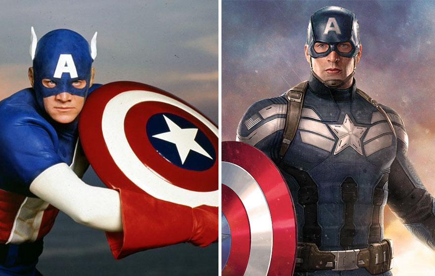 Капитан Америка в 1990 и 2016 годах