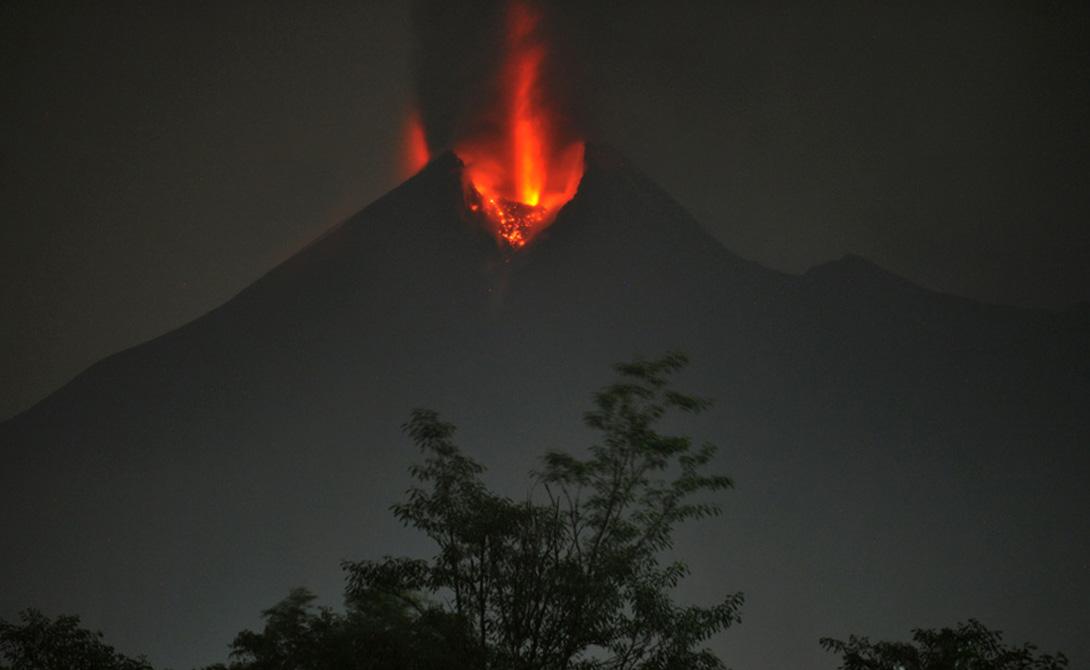 Мерапи, Ява, Индонезия