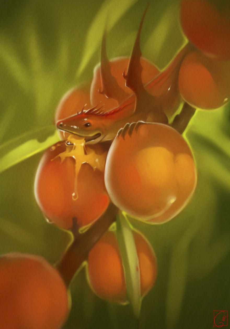 Персик дракон