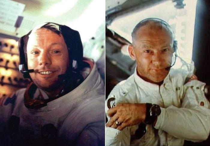 "Командир корабля ""Аполлон-11"" Нил Армстронг и пилот Эдвин Олдрин"