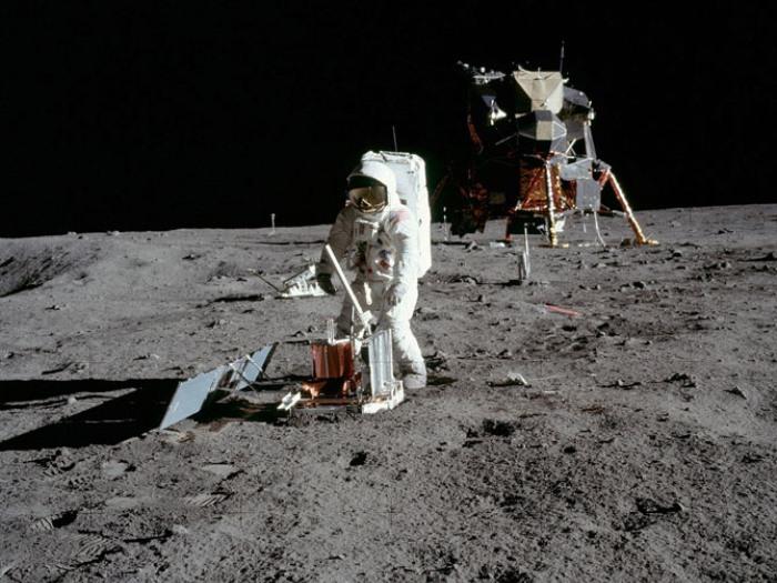 Эдвин Олдрин на Луне