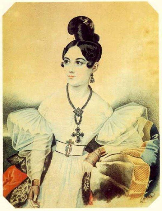 Неизвестный художник. Портрет Анны Михайловны Вильегорской