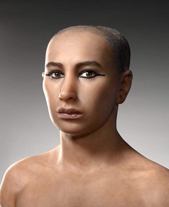 Смоделированный образ фараона Тутанхамона