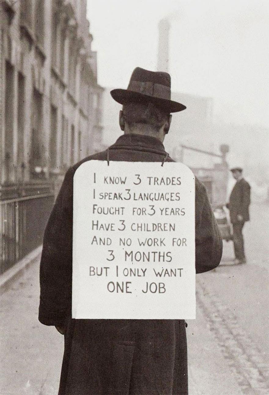 Поиск работы в 1930-е годы