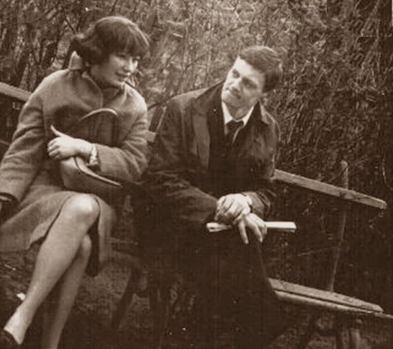 Алла Пугачёва и Миколас Орбакас, 1978 год.