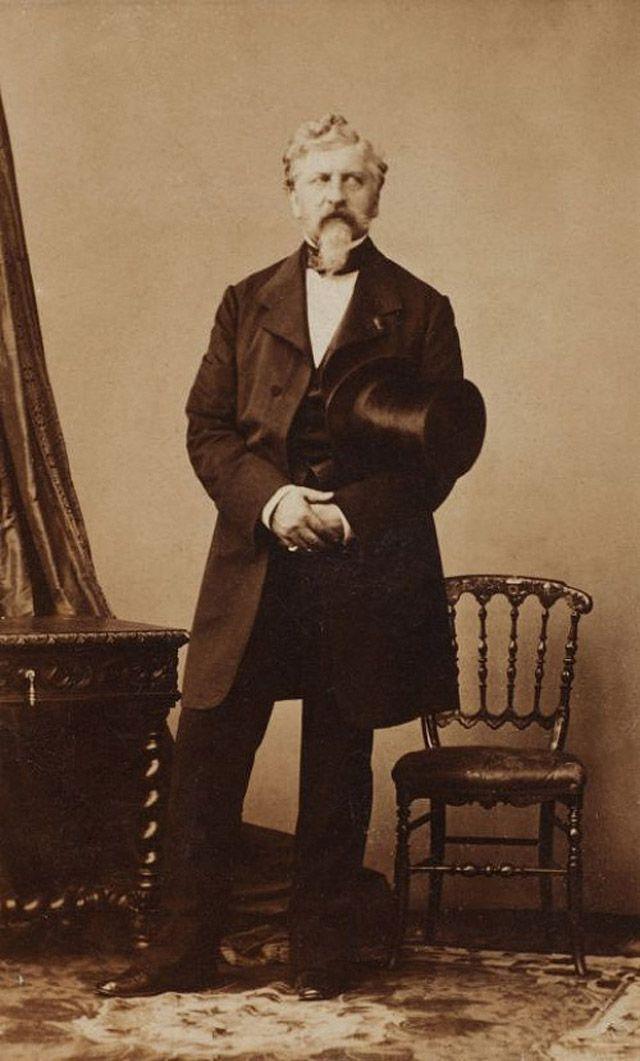 Жорж Шарль Дантес - убийца Александра Сергеевича Пушкина, 1860 год.