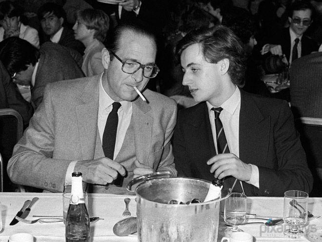 Жак Ширак и Николя Саркози, 1981 год.
