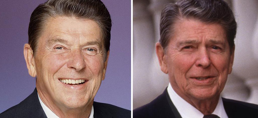 compare and contrasting bill clinton to ronald reagan