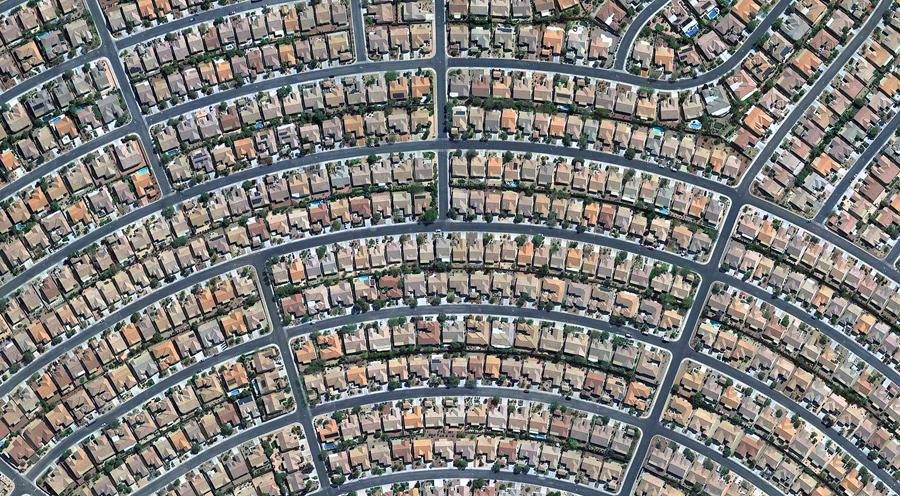 Дома в Хендерсоне, штат Невада , к югу от Лас - Вегаса.
