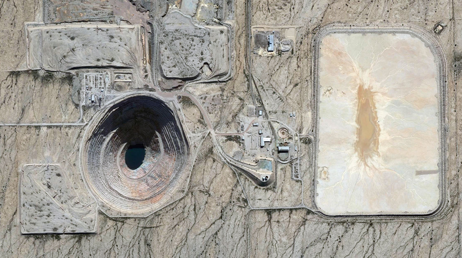 Медный рудник в округ Пинал, штат Аризона.