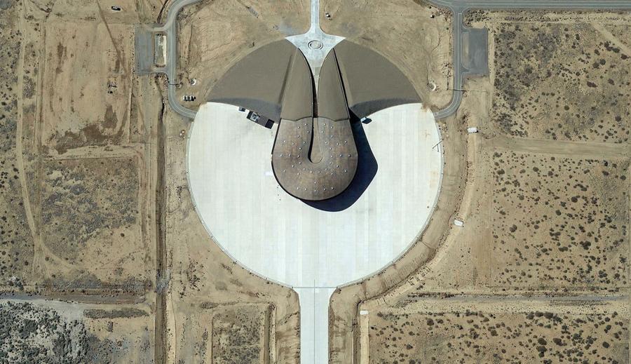 Космодром Америка, Сьерра - Каунти, штат Нью - Мексико. Коммерческий Космодром в настоящее время используется компаниями Virgin Galactic и SpaceX.