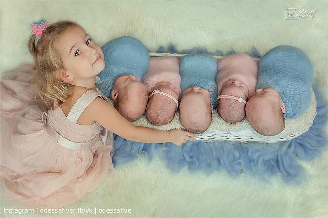 Фотосессия мамы из Украины родившая пятерых детей