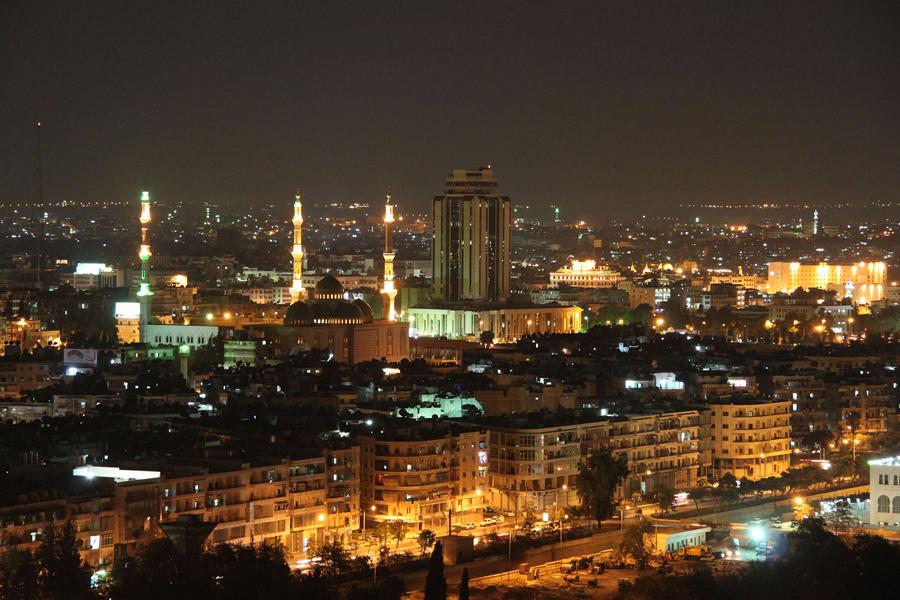 Ночной Алеппо, 5 сентября 2010 года.