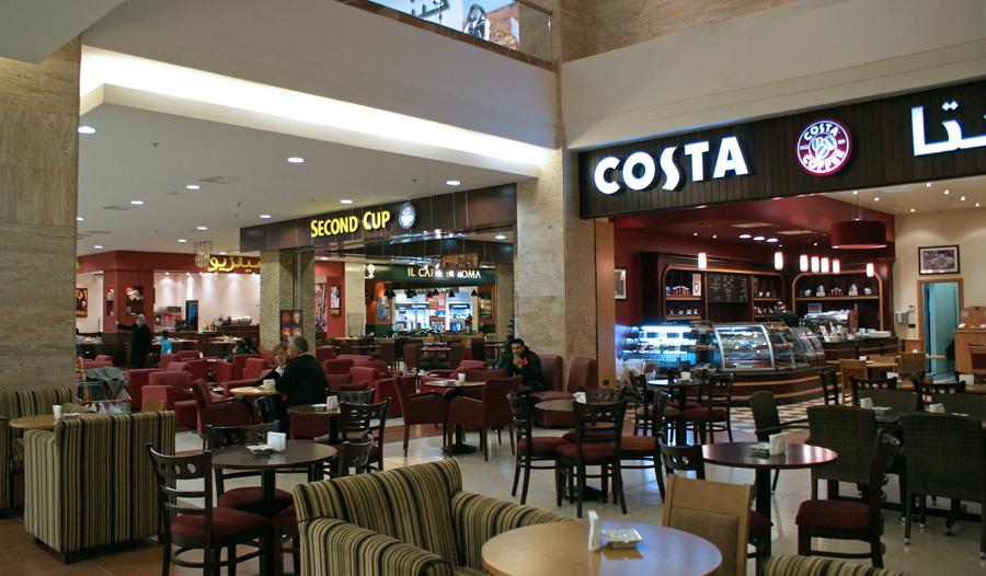 Second Cup и Costa Coffee в торговом центре Shahba Mall в Алеппо, 12 декабря 2009 года.