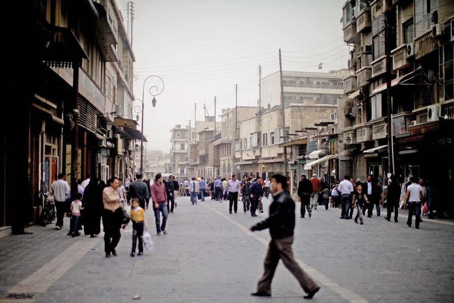 Улица в Алеппо, одном из старейших городов мира, 2-го апреля 2011 года.