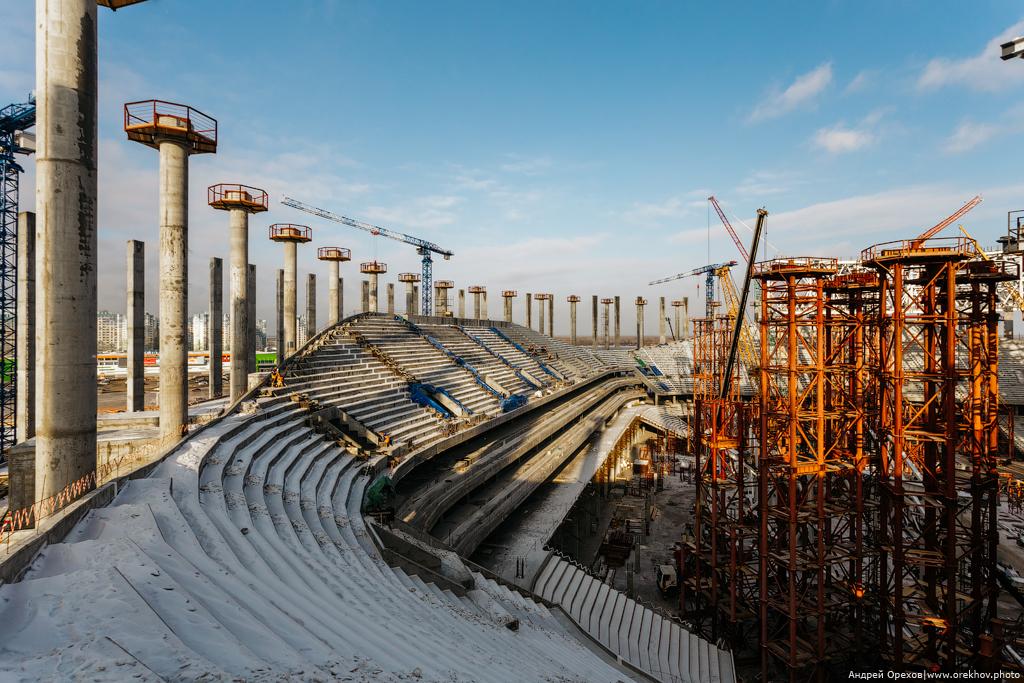 Строительство футбольного стадиона в Нижнем Новгороде к Чемпионату Мира - 2018