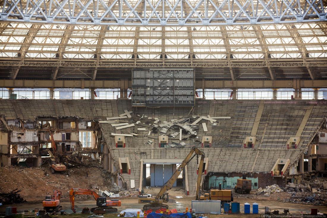 Реконструкция Лужников 2016 (состояние на декабрь)