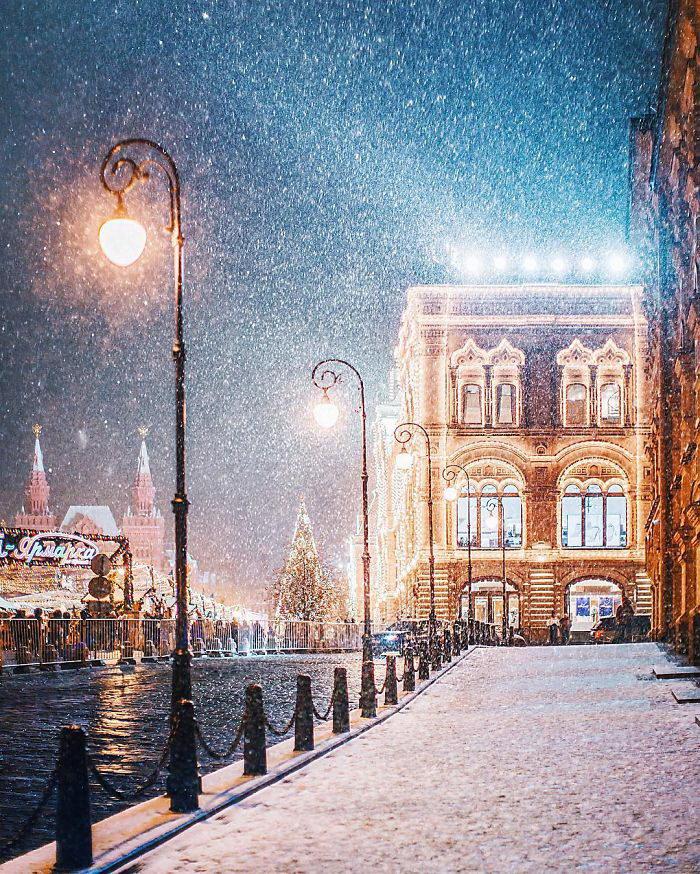 Невероятно красивая ноябрьская Москва в фотографиях