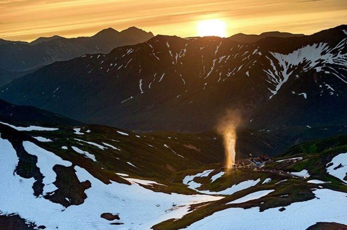 Мутновская геотермальная электростанция, Полуостров Камчатка