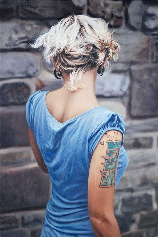 Модные портреты татуированных девушек
